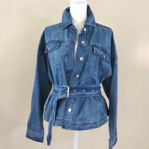 Twelve by Ontwelfth Obsessed denim jacket w belt